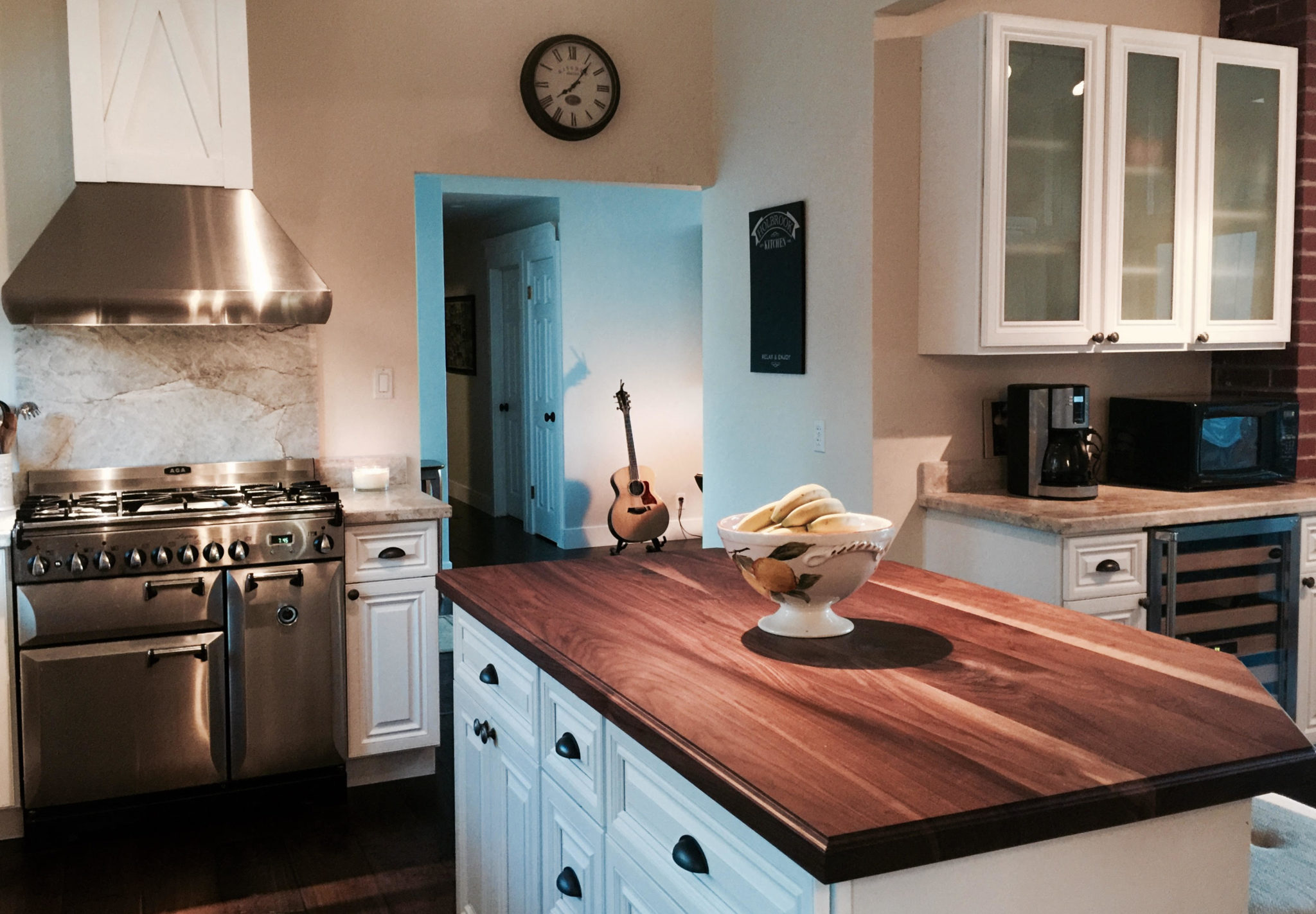 Black Walnut Table Top Style Butcher Block Countertop With Conversion  Varnish