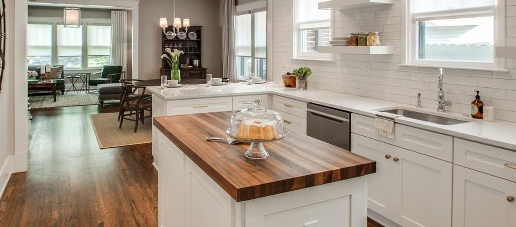 Butcher Block Style Kitchen Counter : Butcher Block Countertop Custom Design Wood Counters Walnut Wood Works